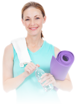 Image of Women With Yoga Mat